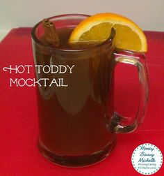 Hot Toddy Mocktail Recipe with Lipton Tea and Honey Pitcher Packs - Money Savvy Michelle Drinks Alcohol Recipes, Non Alcoholic Drinks, Cold Drinks, Drink Recipes, Smoothie Recipes, Yummy Recipes, Smoothies, Party Drinks, Cocktail Drinks
