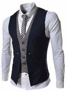 Slim vest great for both casual and formal occasions.