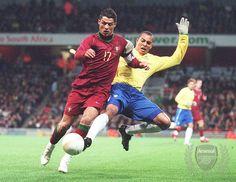 Gilberto tackles Christiano Ronaldo by Pricey4, via Flickr