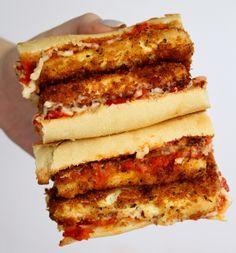 Crispy Tofu Parm Sandwich – Six Vegan Sisters