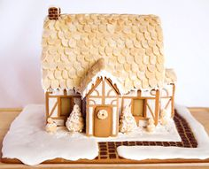 subtle gingerbread house