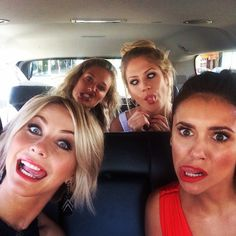 Pin for Later: This Week's Cutest Celebrity Candids  Julianne Hough and Nina Dobrev made funny faces in the car for a selfie. Source: Instagram user juleshough
