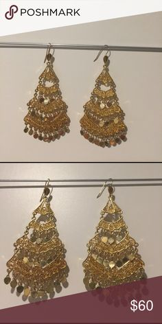 BCBG chandelier earrings Great statement for any outing BCBGMaxAzria Jewelry Earrings