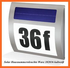 LED SOLAR EDELSTAHL HAUSNUMMER LEUCHTE BELEUCHTUNG HAUSNUMMERNBELEUCHTUNG 102036