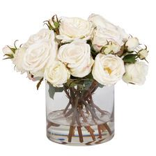 Mixed White Roses in Glass  #connecticutstone