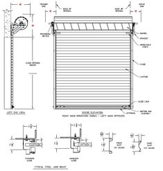 Commercial Roll Up Door Heavy Duty Model 3000 Rolling