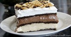 Chocolate and Peanut Butter Lasagna