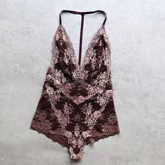 sheer floral lace bodysuit