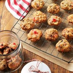 Fruitcake Cookies. A five star recipe. This may be beneficial to someone like me with a fruit cake fear, but desperately wants to enjoy tradition
