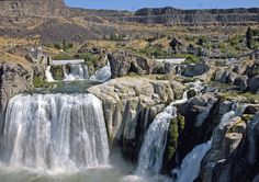 """Shoshone Falls, Idaho, known as """"The Niagara of the West"""".  One of many sites to see in the U.S.  Linked to an article on enchanting spots in all 50 states."""