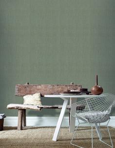 Praxis   Behangen? Neem een kijkje in ons ruime assortiment. Mushroom Wallpaper, Fabric Textures, Wall Wallpaper, Dining Bench, Simple, Easy, Furniture, Walls