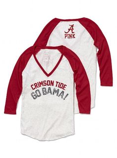Victoria's Secret Pink UNIVERSITY OF ALABAMA BASEBALL TEE
