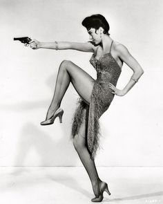 Cyd Charisse publicity photo for 'Meet Me in Las Vegas', 1956. S)