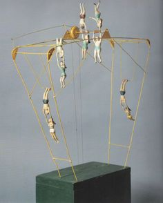 the trapeze toy, 1925 wood, wire and metal oklahoma, earl eyman