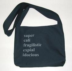 Mary Poppins Messenger bag I may need this.........