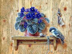 VK is the largest European social network with more than 100 million active users. Bird Painting Acrylic, Ceramic Painting, Painting On Wood, Art Floral, Drawing Sketches, Art Drawings, Illustrations, Illustration Art, Decoupage Vintage