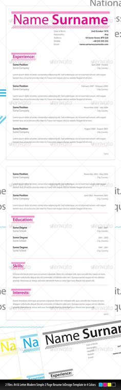 Slick + Simple Resume with Cover Letter Simple resume - simple resume layout