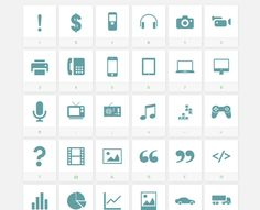 Sosa - An icon font with over 120 useful icons