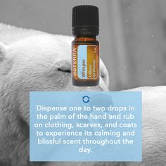 A blend of dōTERRA's most appealing essences, Whisper combines several CPTG® essential oils which blend with your individual chemistry to create a beautiful and unique personal fragrance. Whisper contains rose, jasmine, bergamot, cinnamon, cistus, vetiver, ylang ylang, cocoa, vanilla, sandalwood, and patchouli.