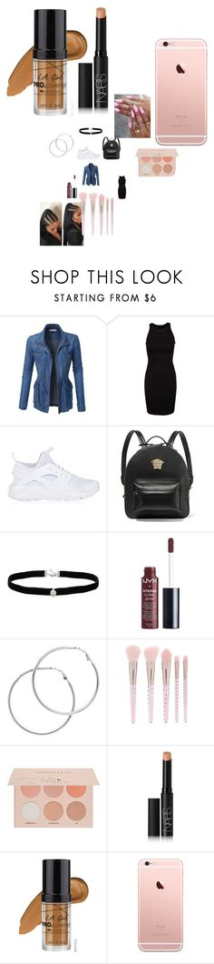 """""""Untitled #3772"""" by fashionicon67 ❤ liked on Polyvore featuring LE3NO, NIKE, Versace, Amanda Rose Collection, Charlotte Russe, Melissa Odabash, Forever 21, Guerriero, NARS Cosmetics and L.A. Girl"""