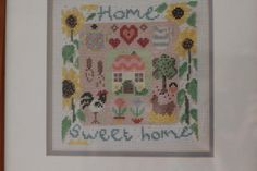 home sweet home cross stitch by Sew Paint It, via Flickr