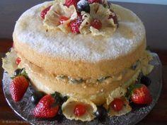 Receita de Bolo naked cake