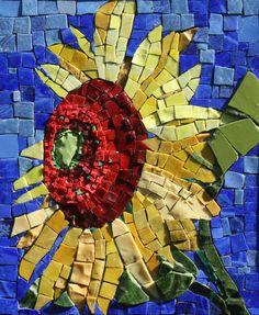 smalti mosaic art | Wind Blown 9x11Italian and Mexican Smalti