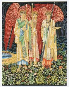 Vision of the Holy Grail, Angels