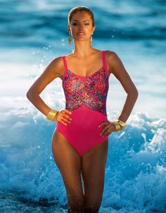 Swimsuit in the color multi-coloured - red - in the MADELEINE online collection