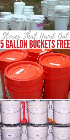 Stores That Hand Out 5 Gallon Buckets Free - Now is the time for winning the resource game. We live in an age of excess and preppers all over should take advantage of this. I don't know about your but I use 5 gallon buckets for tons of things. Survival Life Hacks, Survival Items, Survival Food, Homestead Survival, Survival Prepping, Survival Skills, Wilderness Survival, Survival Stuff, Urban Survival