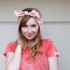 Tie Up headband  in summer floral print by BglorifiedBoutique, $12.00