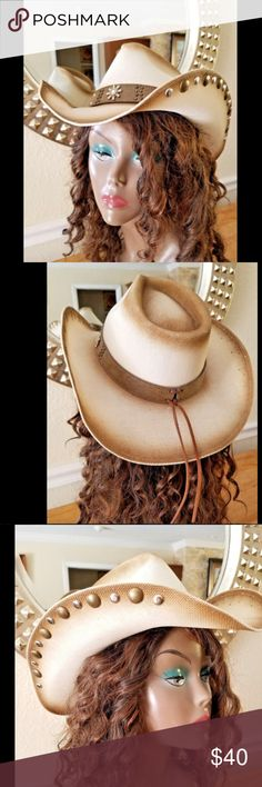 I just added this listing on Poshmark  Austin Cowboy Hat Jupiter Pinchfront  Crown SizeM. a2467ddc6ee2