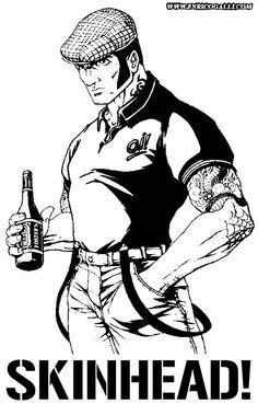 Skinhead Men, Skinhead Fashion, Skinhead Tattoos, Chicano Tattoos, Arte Punk, Straight Edge, Ska Punk, Doodle Characters, Punk Jackets
