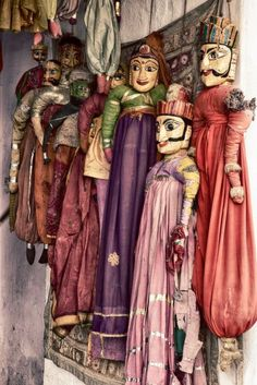 Udaipur in Rajasthan, India on Flirck Marionette Puppet, Puppets, Toy Theatre, 3d Figures, Udaipur, Jaisalmer, Rajasthan India, Art Folder, Antique Toys