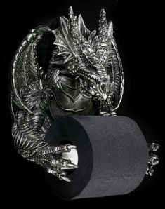 Gothic Home Decor: Dragon Toilet Tissue Holder. - Gothic Home Decor: Dragon Toilet Tissue Holder. Goth Home Decor, Winter Home Decor, Diy Home Decor, Room Decor, Gypsy Decor, Duomo Milano, Gothic Bathroom, Decor Scandinavian, Fantasy Gifts
