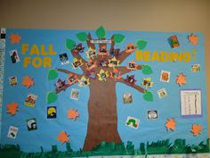 Reading and fall themed bulletin board I did for kindergarten 2012.