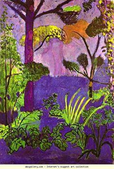 Henri Matisse. Moroccan Landscape (Acanthus). 1911-13. Oil on canvas. Museum of Modern Art, Stockholm, Sweden