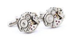 Steampunk Watch Cufflinks - http://www.wonderfulworldofjewelry.com/jewelry/mens-jewelry/mens-cuff-links/steampunk-watch-cufflinks-com/ - Your First Choice for Jewelry and Jewellery Accessories