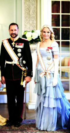 iloveroyalfamilies:  Crown Prince Haakon and Crown Princess Mette-Marit of Norway