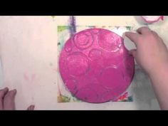 Making tools to use on the Gelli Plate with hot glue and recycled caps!