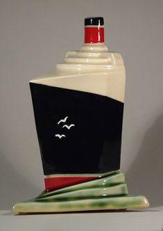 Echo Of Deco Art Deco Ceramic White Star Line Ocean Liner Ornament #ArtDeco