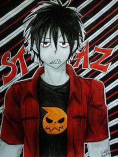 Blood Lad: Staz by Killjoy-Chidori on DeviantArt Vampires And Werewolves, Killjoys, Werewolf, Blood, Joker, Fandoms, Fan Art, Deviantart, Manga