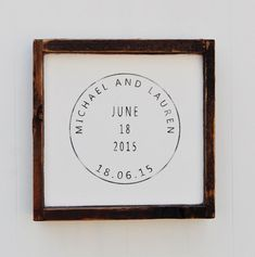 Custom Stamp Sign Anniversary Wood Wedding sign Engagement Gift Wedding Gift Bridal Shower Gift Important Date Art Home Decor by wavynavy on Etsy Engagement Decorations, Engagement Gifts, Bridal Shower Gifts, Bridal Shower Invitations, Custom Wedding Gifts, Gift Wedding, Wood Wedding Signs, Art Deco Wedding, Decor Wedding