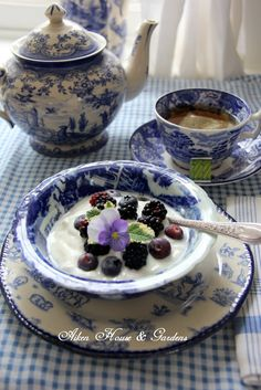 Aiken House & Gardens: Blue & White Transferware Tea and Garden