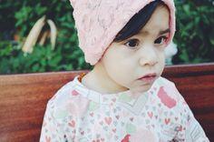 LITTLEMISSDESSA   Lace - Handmade Baby/Girls Printed Jersey Knit Slouchy Beanies {Newborn/Baby Hats}