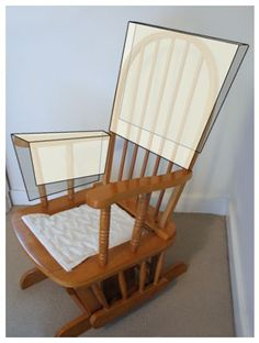Reupholster  glider to a modern rocking chair. Really want to do this but have 0% chance of figuring it out!,,