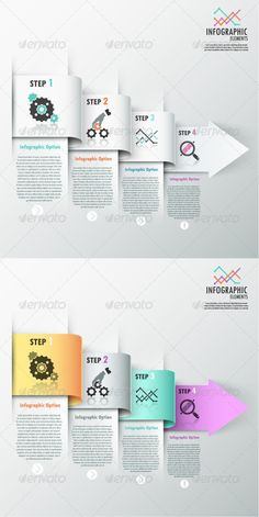 Modern Infographic Options Banner (2 Versions) Template #design Download: http://graphicriver.net/item/modern-infographic-options-banner-2-versions/7668447?ref=ksioks
