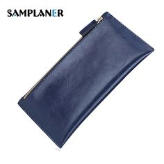 Cheap ladies long wallet, Buy Quality long wallet directly from China women wallets Suppliers: Samplaner Genuine Leather Slim Women Wallets Double Zipper Clutch Bag Ladies Long Wallet Card Holders Purses Clutch Wallets 2017 women wallet, women wallet small, women wallet organizers, women wallet pattern, women wallet cute, women wallets and purses, women wallets #wallet #wallets #purse