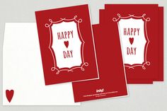 Classic Valentine's Day greeting card design from Inkd