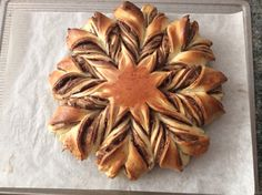 Nutella Tear Apart Star Bread  Site has ingredient amounts, but here's a larger version of the video  - http://www.youtube.com/watch?v=HwvYmBo_bN4 nutella star bread